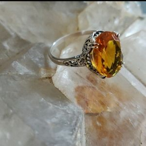 Citrine Sterling Silver Ring